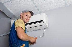 Установка вентиляционной системы и кондиционера