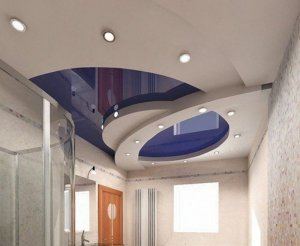 Натяжные потолки, выполненные в несколько уровней