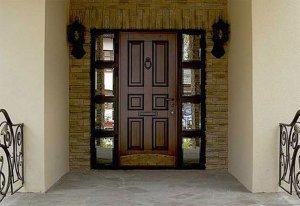 Наружная отделка входных дверей