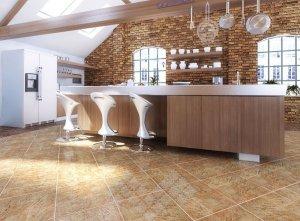 Применение керамогранита в отделке кухни