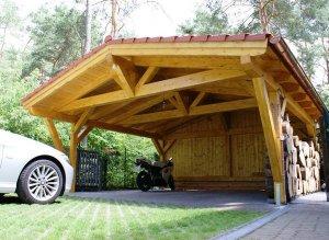 Устройство деревянного навеса для автомобилей